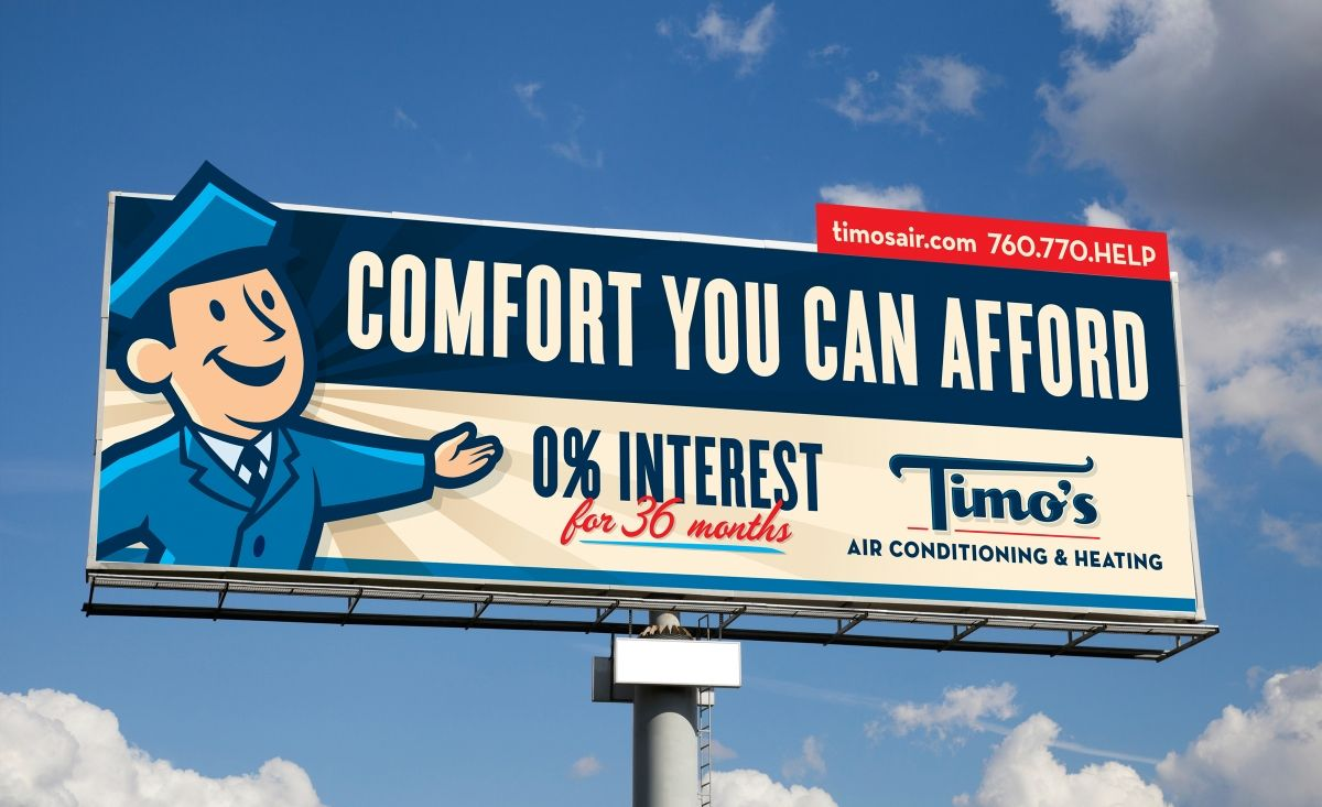 Timo's Air Conditioning & Heating Billboard design
