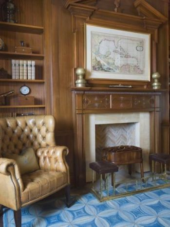 Gorgeous wood paneling.  Leave out the chair, the carpet, and the centerpiece over the mantel.  I can do better than that in my dreams:)