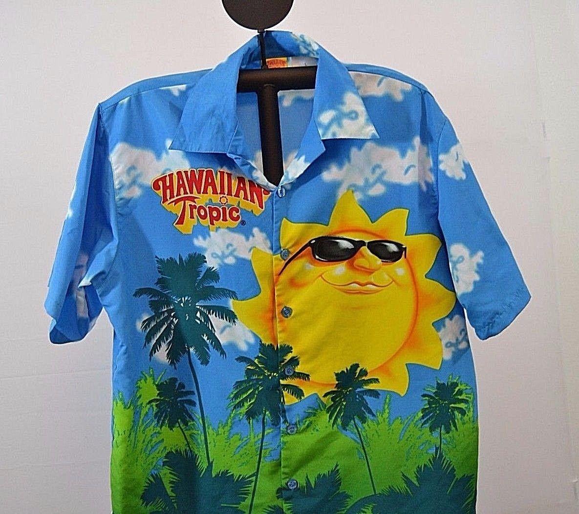 2b1b839d Hawaiian Tropic Hawaiian Shirt L 100% rayon short sleeve multi-color | eBay
