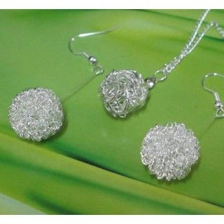 New Fashion Silver Plated Ball Shaped Jewelry Sets for Women