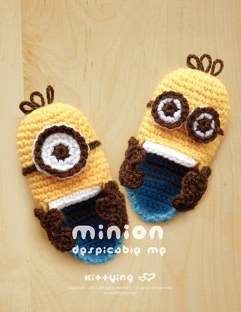 Minion Despicable Me Children Booties Crochet PATTERN This pattern ...