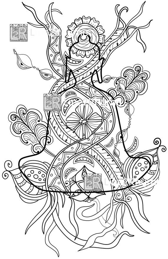 zentangle buddha  printable adult coloring page  from