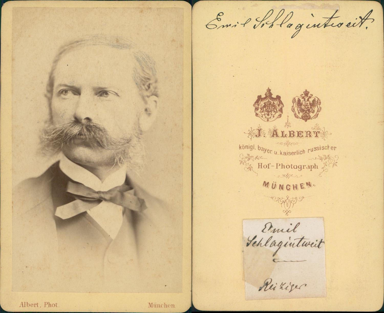 Emil Schlagintweit Rudit Allemand CDV Portraits Hommes Et Femmes De Lettre