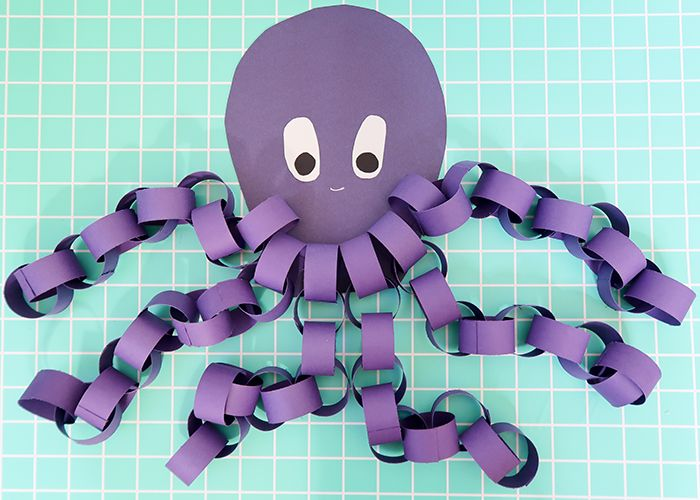 Easy Paper Chain Octopus Craft Kids Art Crafts Octopus Crafts