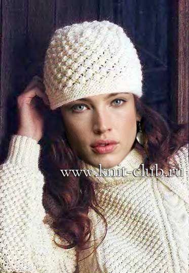 Вяжем спицами зимние шапки женские