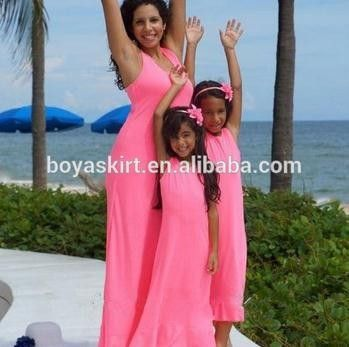 2015 100% cotton Family Mother and Daughter Fashion Matching Dresses girls maxi dresses dress design for children girl dress #About_Girls, #Daughters