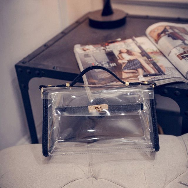 Transparent Messenger Shoulder Bag