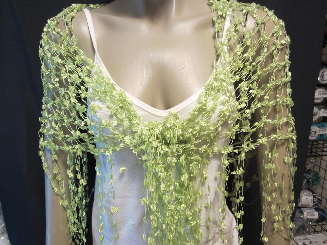 Crochet With Ladder Yarn Scarf Top Patterns For Sale