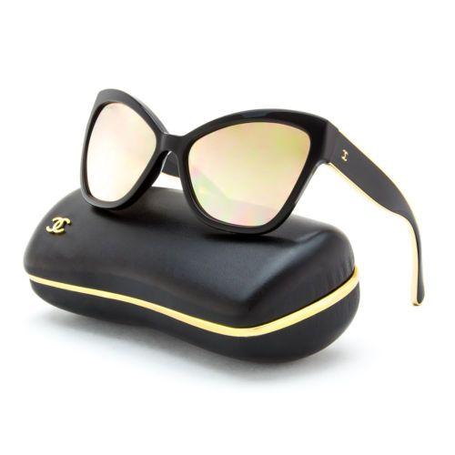219f58d83 Chanel-5271-Oversized-Cat-Eye-Sunglasses-501-T7-Black-Gold-Mirrored-58-mm