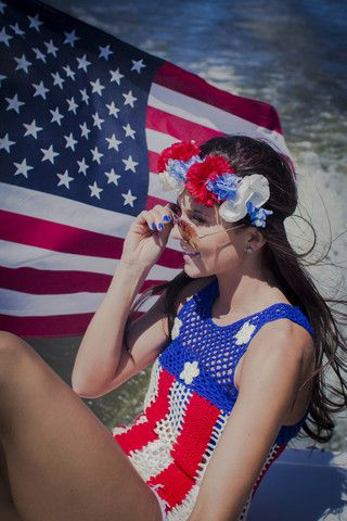 Knit Flag Tank | uoionline.com: Women's Clothing Boutique #4thofJuly