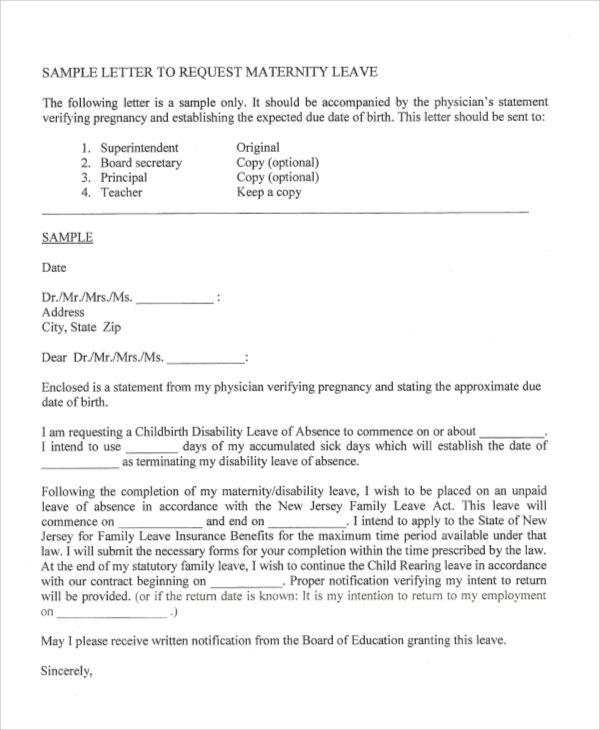 sample application letter format documents pdf for leave extension - format for leave application