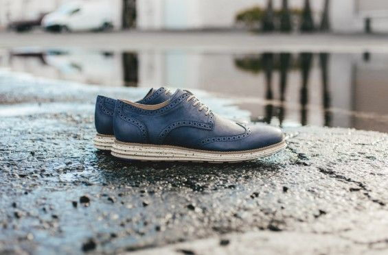 "Cole Haan Lunargrand Wingtip ""Berkeley Blue"""