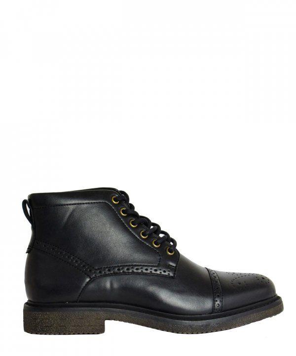 e249c16ba8d Ανδρικά μποτάκια Oxford μαύρα δετά B8529 #ανδρικάμποτάκια #μοδάτα #ρούχα # παπούτσια #στυλ #φθηνά #μοντέρνα