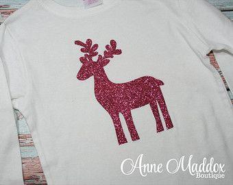 Glitter Reindeer Shirt, Christmas Shirt, Christmas Shirts for ...
