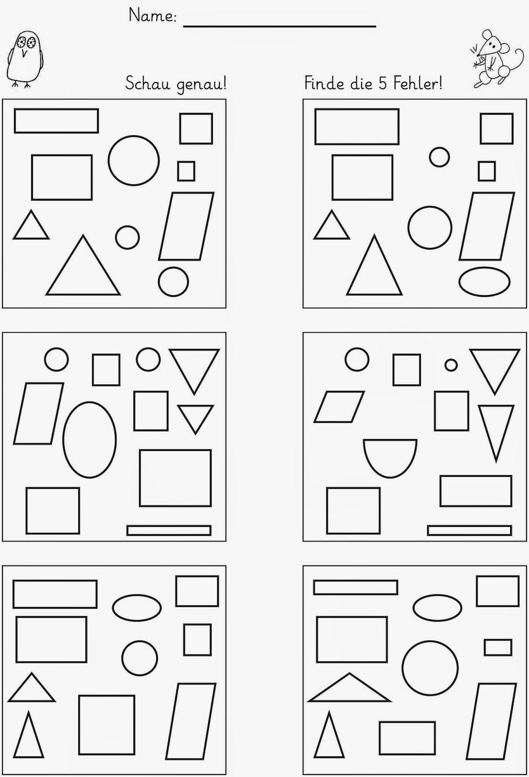Ausdrucken kostenlos unterschiede suchen Fehlerbilder Für