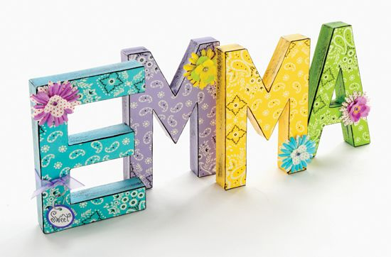 Craft Painting Decorated Wall Letters Letter A Crafts Paper Mache Letters Painting Crafts