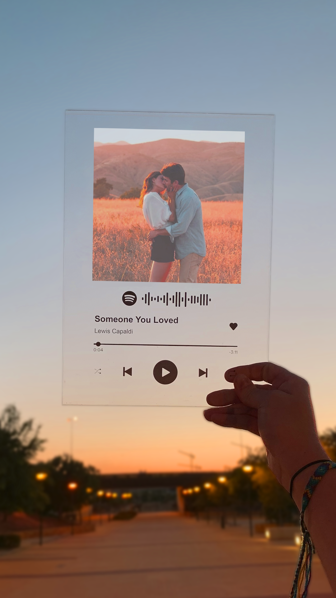 ♫ Placa Spotify personalizada by TransparentGift  – Boda fotos