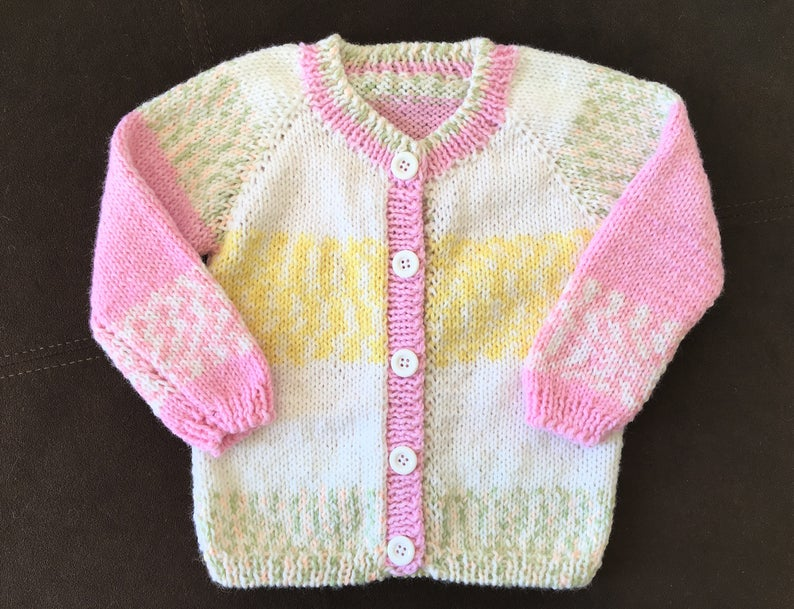 0-3 months  in different colours New hand knitted baby cardy in size newborm