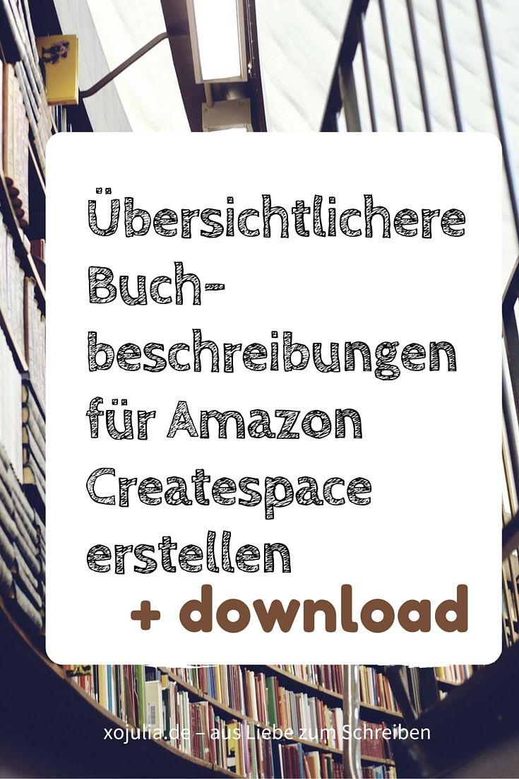 Attraktivere Buchbeschreibungen bei Amazon Createspace erstellen ...