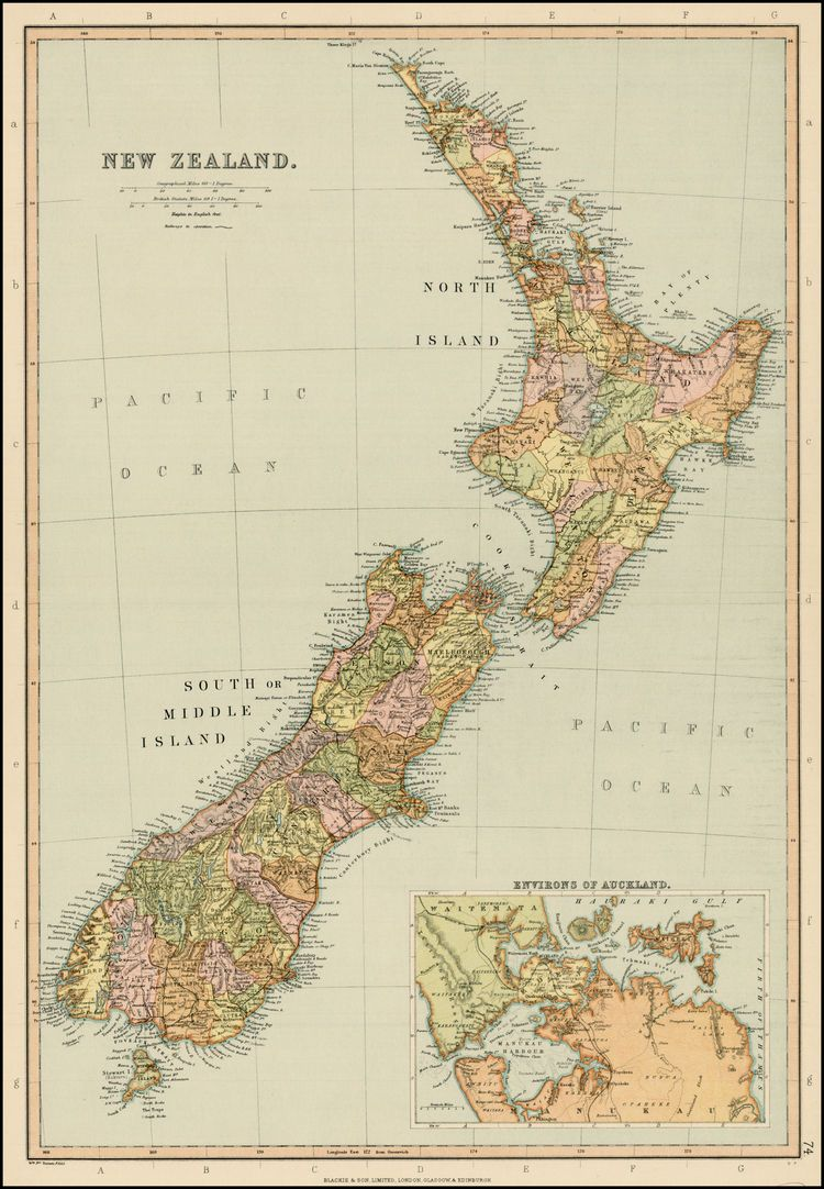 New Zealand Neuseeland Weltkarte Reisen