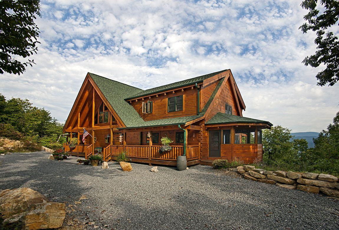Best Log Home Green Shingle Roof Custom Timber Log Homes 400 x 300