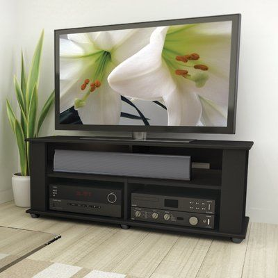Charlton Home Emerita Tv Stand For Tvs Up To 50 Wayfair In 2020 Black Tv Stand Tv Stand Corliving