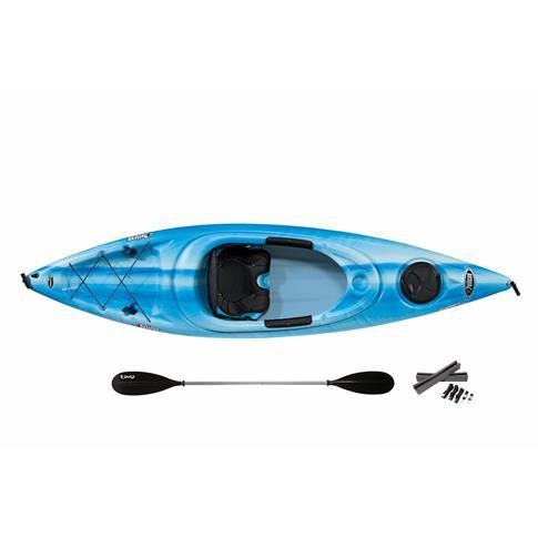 Pelican Kayak Esprit 100 with Paddle - Fade Blue/White