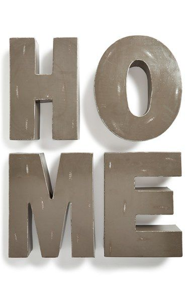 free shipping and returns on foreside home decorative metal letters at nordstromcom make your house a home with this set of decorative metal letters