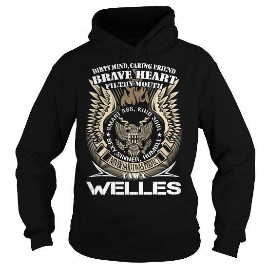 Cool WELLES Last Name, Surname TShirt v1 Shirts & Tees