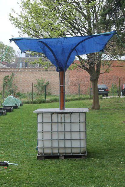 Stand Alone Rainwater Collector Rain Barrel Rainwater