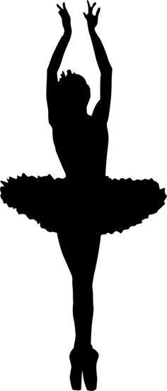 Bailarina Silhouette Art Silhouette Dance Wall Decal
