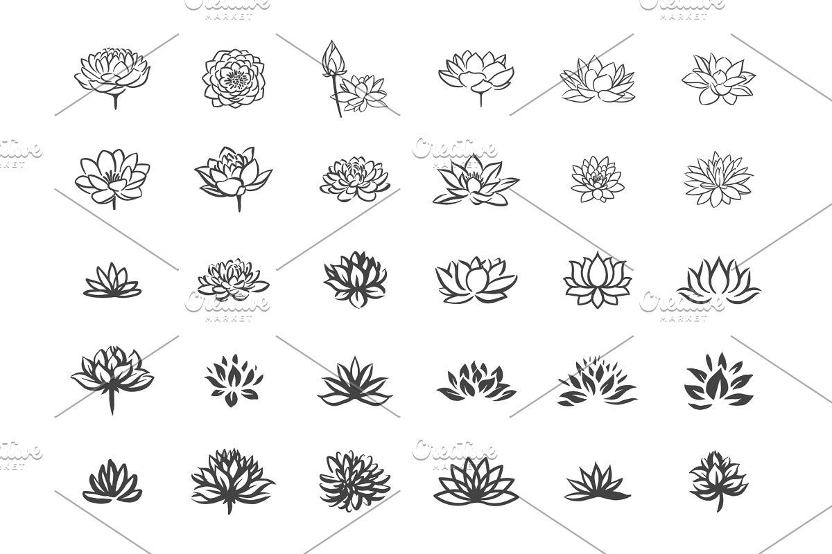 Lotus flower icon set (With images) Flower icons, Lotus