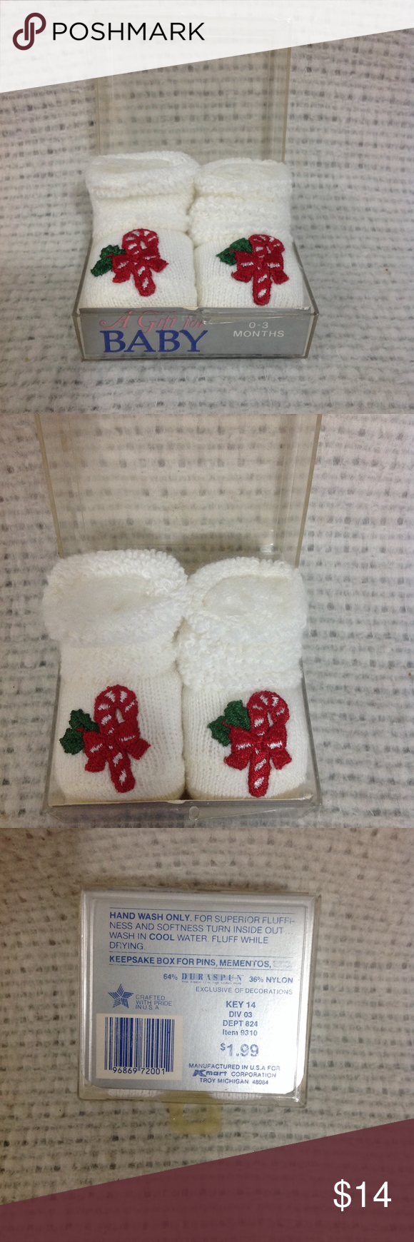 Vintage Kmart Christmas Baby Booties NWT | My Posh Picks | Pinterest ...
