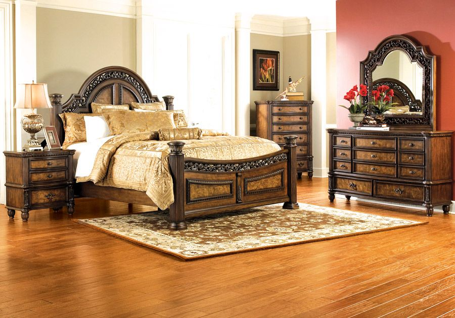 verona pecan 5 pc queen bedroom | queen bedroom, king