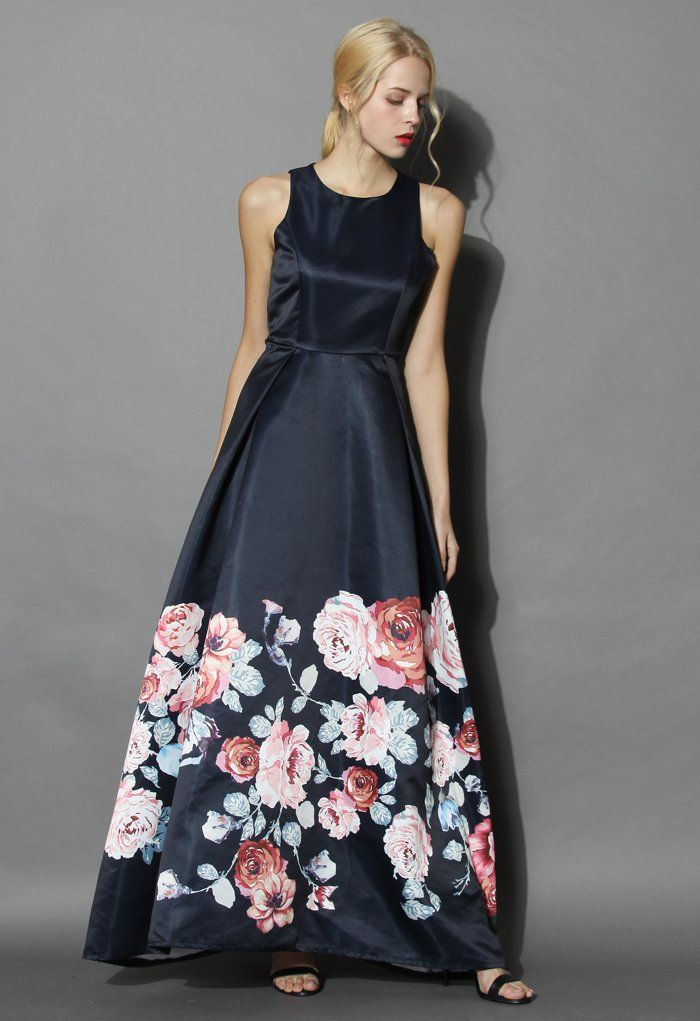 7955a80cc08 Endless Blooming Rose Maxi Gown Dress - New Arrivals - Retro
