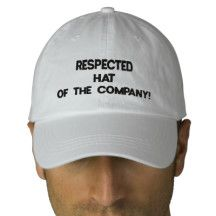 Respected #Hat of The Company! :) #Funny  Embroidered #Baseball #Caps