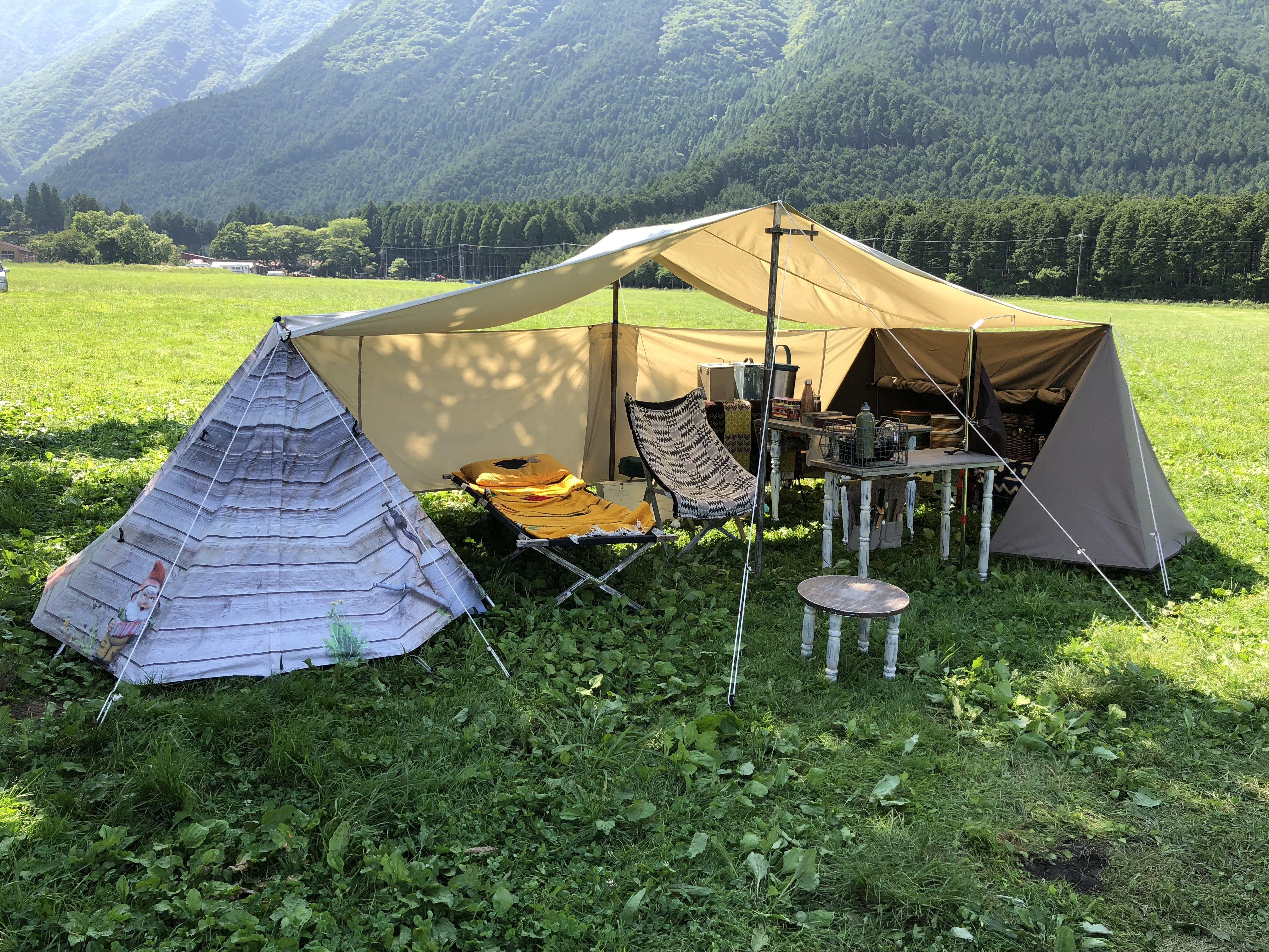 自作テーブル タープ等 Camping Style Camping Survival Tent