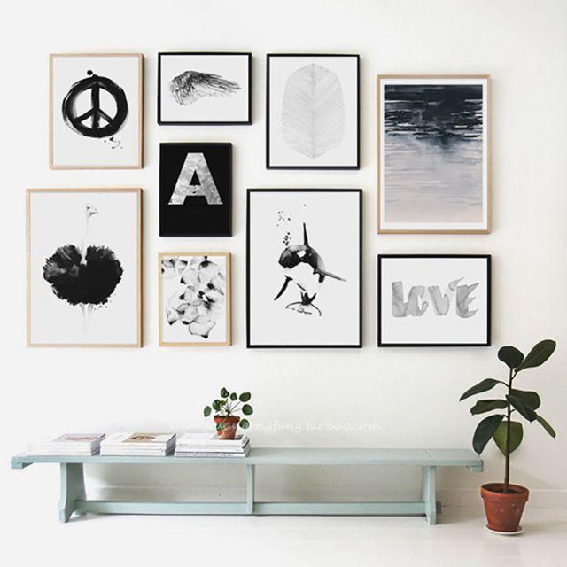 Pared cuadros para la sala gris mundo posters and prints - Cuadros sin marco ...
