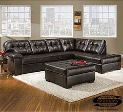 View Simmons Faux Leather Manhattan 2 Piece Sectional Deals At