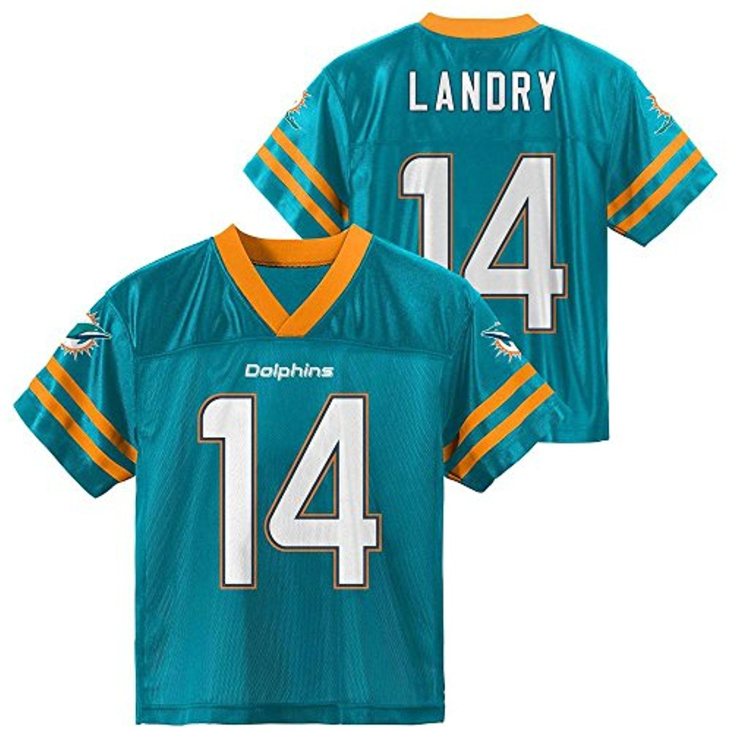 a43b813f Jarvis Landry Miami Dolphins Aqua Kids NFL Player Home Jersey ...