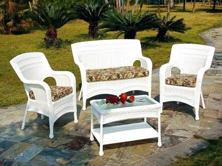 Lowes Wicker Patio Furniture White