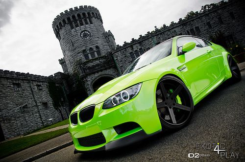 Mean Green BMW M3 E92  Custom Widebody  Paint  20 D2FORGED CV2