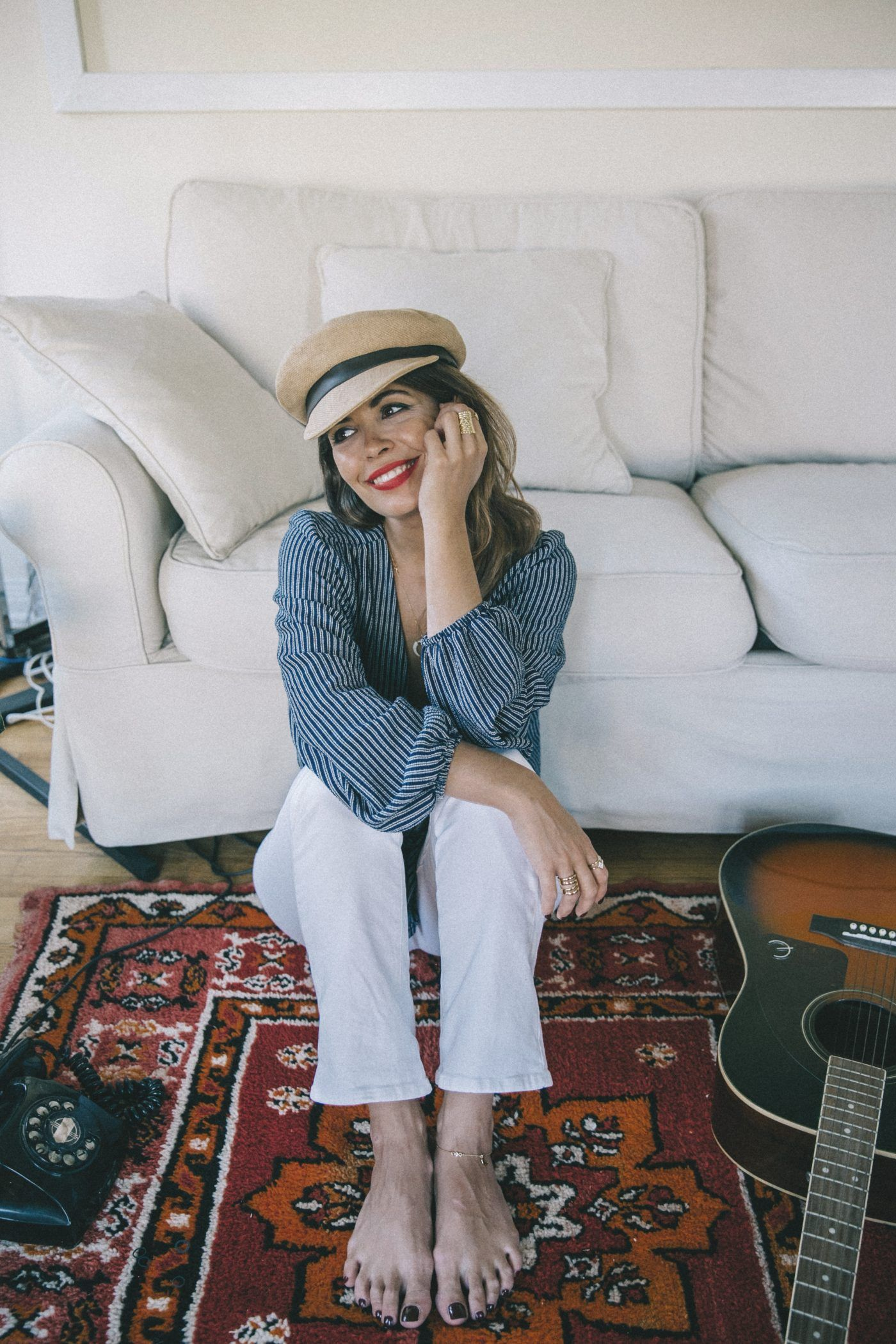 Maria_Pascual-Collage_Vintage_Collection-Paige_Denim-Free_People_Hat-Striped_Blouse-21