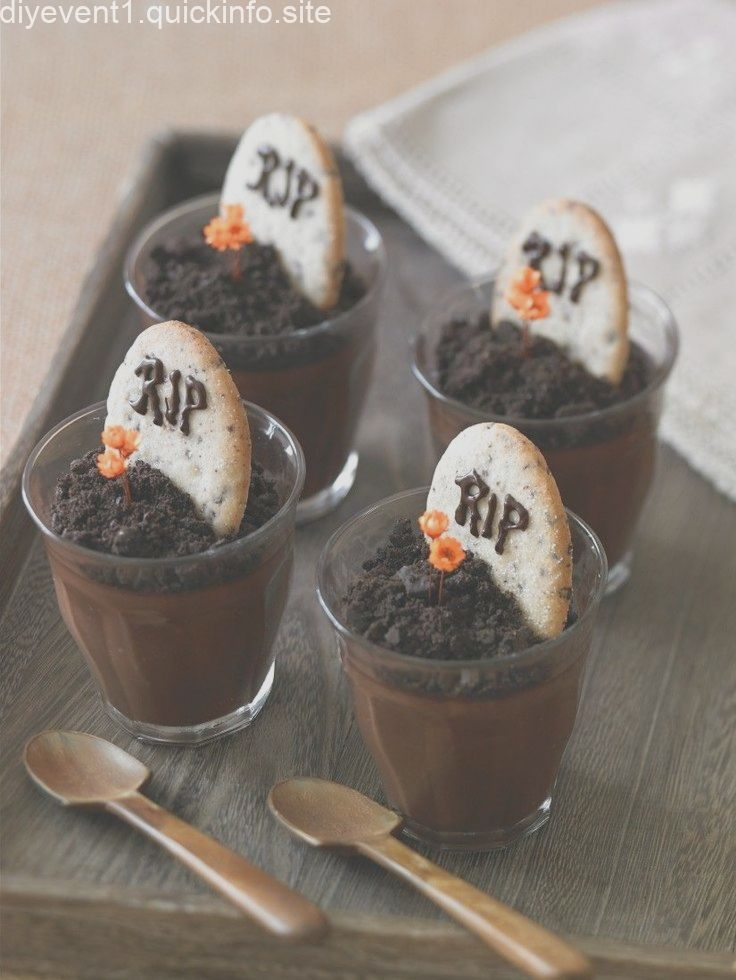 Halloween-Schokopudding #halloweenpotluckideas