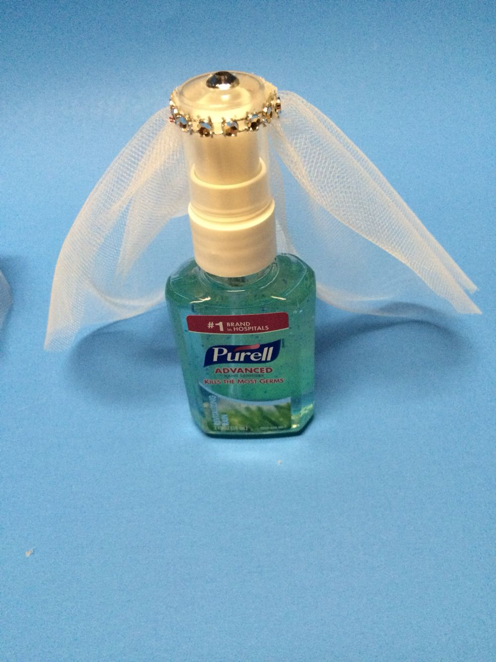 Cute Travel Theme Bridal Shower Guest Favor Hand Sanitizer With
