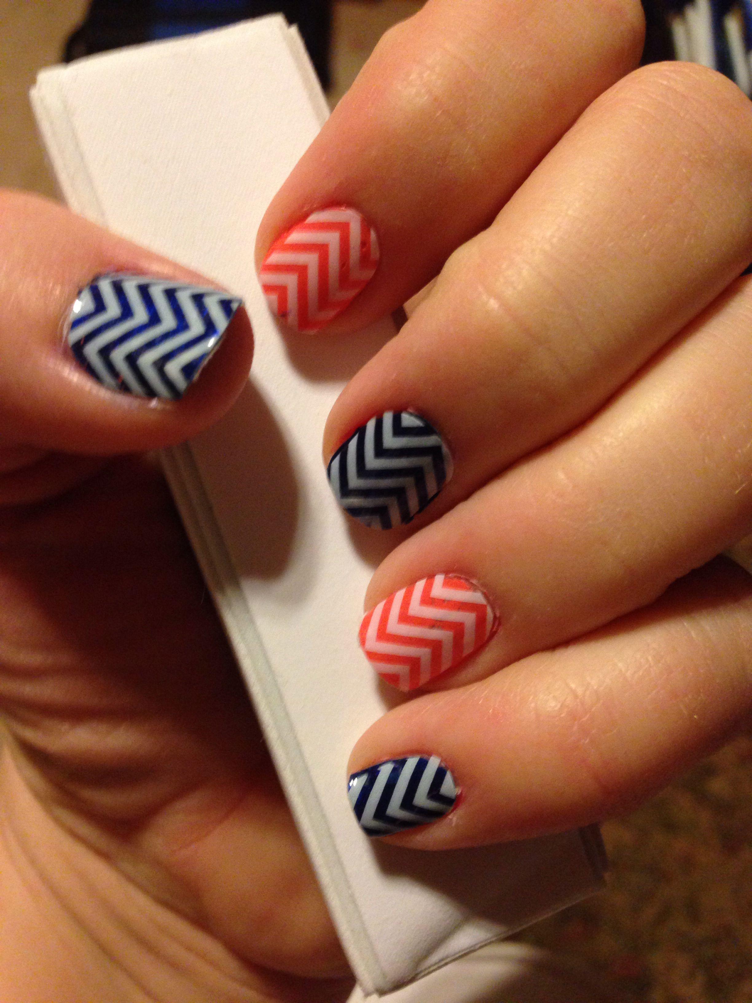 OKC Thunder or Denver Broncos nails! Www.kables.jamberrynails.net ...