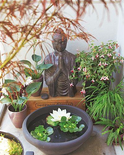 Balkon-Ideen für jede Himmelsrichtung Buddha, Balkon und Tisch - wohnzimmer ideen buddha