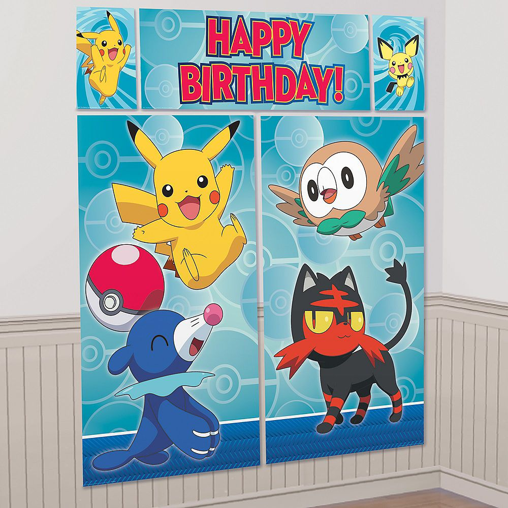 Pokemon Birthday Party Scene Setter with Props