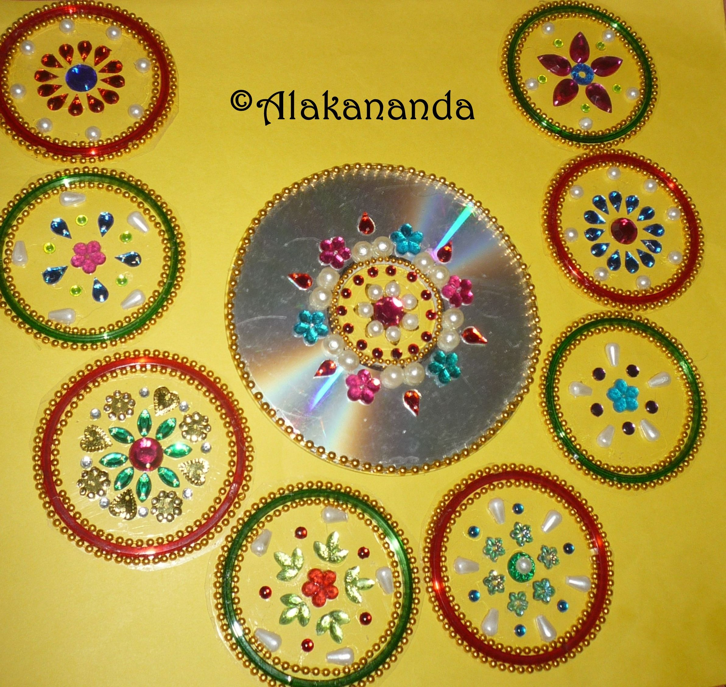 DIY - Floating kundan diya rangoli and floating kundan flowers, How ...