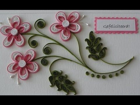 Diy Paper Quilling Green And Yellow Flower Youtube Quilling
